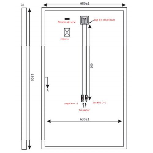 Panel Solar Rigido Monocristalino 190w 12v Alta Eficiencia PERC