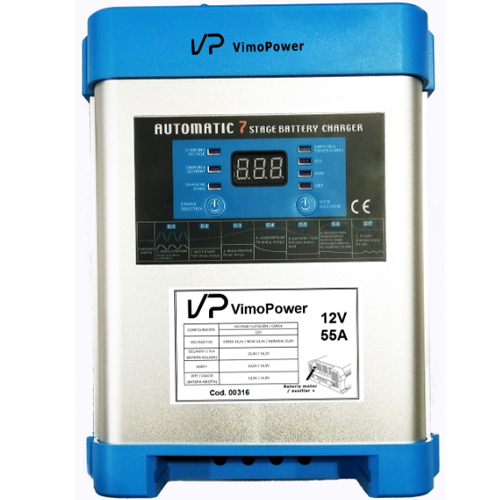 Cargador baterias VimoPower 7 etapas adaptativo 12v