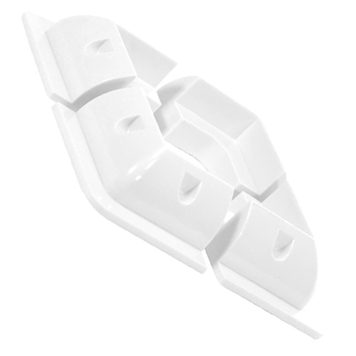 Soporte panel placa solar ABS blanco